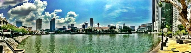 Singapore River in Raffles